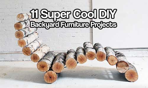 11 super cool diy backyard furniture projects shtf for Super cool diy projects
