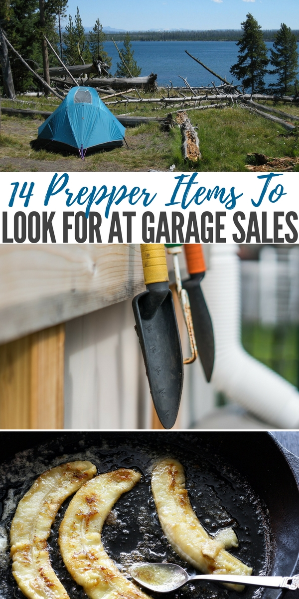 14 Prepper Items To Look For At Garage Sales — Garage sale season is here! This is the time of year when people do their spring cleaning, clear out their basements and attics, have garage sales, and sell valuable items for next to nothing.