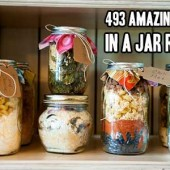 493 Amazing Meals In A Jar Recipes - I pretty much can guarantee you can find some awesome recipes in this HUGE list of recipes. There are a lot of different kinds of recipes to choose from, they are all in alphabetical order so don't be discouraged if all you see are desserts. There are plenty of breakfasts, dinners and desserts in this list.