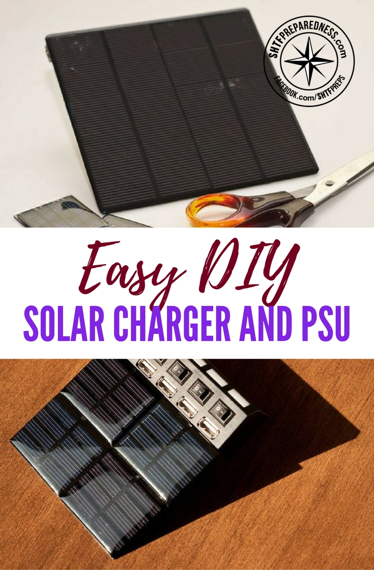 Easy DIY Solar Charger and PSU — Now this is a little more advanced than taking an old garden solar light and quickly turning it into a phone charger. This is the king of solar garden hacks!