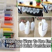 19 Ingenious Ways To Use Empty Food And Drink Containers