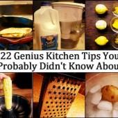 It doesn't matter if you are a wiz around the kitchen or you are a novice like me, these 22 genius kitchen tips will probably help you out in more ways than one. These tips will save you time, lots of money and your sanity when cooking, baking, preparing and cleaning in the kitchen. I love articles like this because a lot of the tips are old school tips that my grandparents probably did back in the day. If you don't save time, money or your sanity using any of these tips there is one thing guaranteed, you will WOW your friends when you have them over for dinner :) My favorite tip is probably Keep Lettuce For Two Weeks – Why not make your lettuce go further and last longer by following these tips. I always end up throwing away my lettuce and its just a waste of money, so I tried this method and what do ya know… It works!!! I would love to hear from you guys if you have any other kitchen tips, if you do please head on over to our Facebook page and leave us a comment and maybe we will get enough tips to start our own article :) Read the 22 kitchen tips in the link below :) See them at… 22 Genius Kitchen Tips You Probably Did NOT Know About