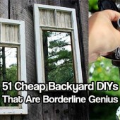 51 Cheap Backyard DIYs That Are Borderline Genius - A lot of people think that you have to spend a fortune on a garden or back yard to make it look and feel like an award wining one. That is just not true. In fact, you can re-purpose a lot of stuff to make any garden look fabulous.