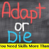 Adapt Or Die: Why You Need More Skills Than Stuff
