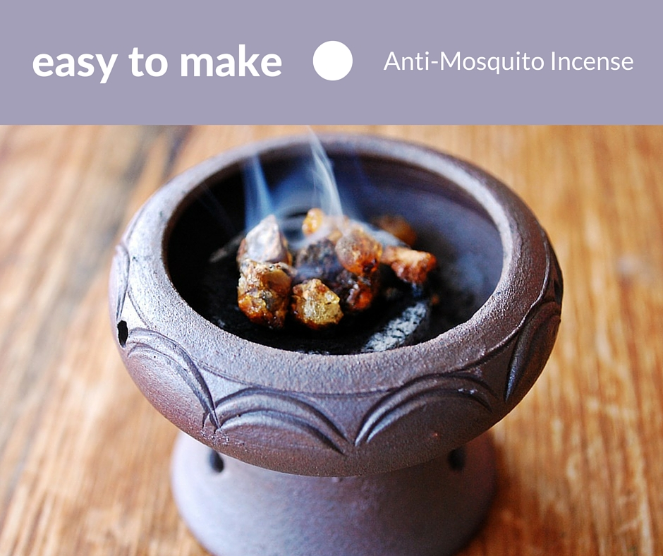 Easy To Make Anti-Mosquito Incense -  You can spray yourself with deet if you are comfortable spraying harmful chemicals on your body. I however am not. I always look for a more natural and harmless way to keep them away. Check out this alternative method called anti-mosquito incense.