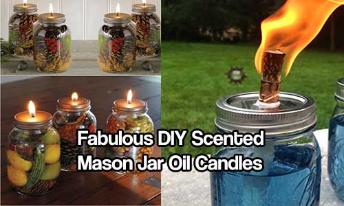 6 Eco Friendly Diy Homes Built For 20k Or Less: Fabulous DIY Scented Mason Jar Oil Candles
