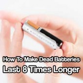 How To Make Dead Batteries Last 8 Times Longer