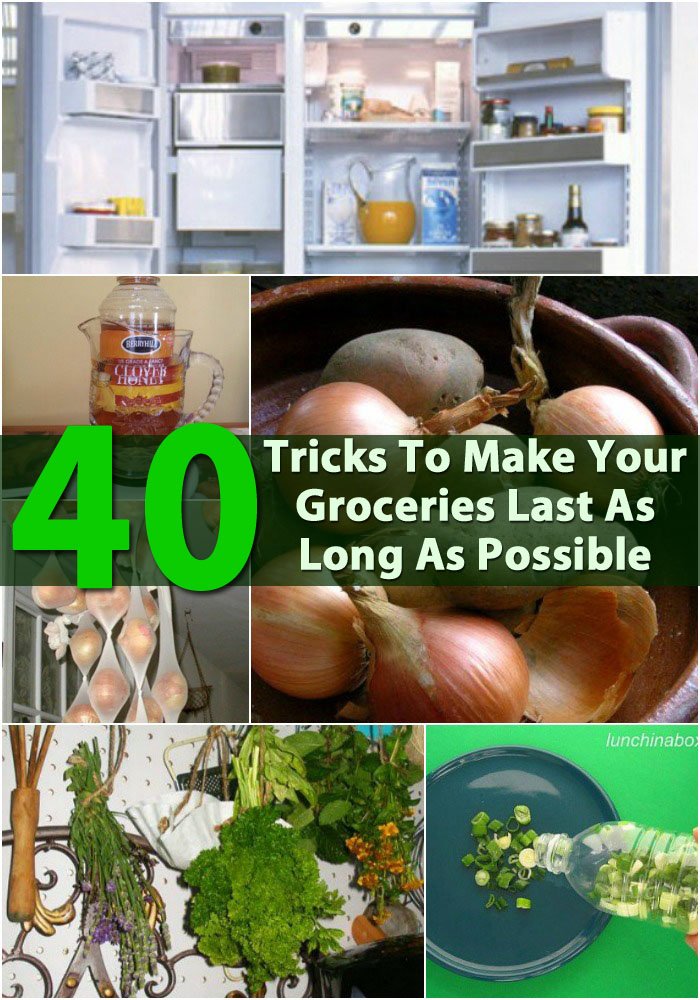 40 DIY Tricks To Make Your Groceries Last As Long As Possible - One of the most useful tips (for me) I learned is to use vinegar to make berries last longer. I wish I knew this one sooner because I have thrown away so many berries because I just never got to them in time.