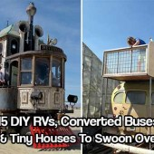 15 DIY RVs, Converted Buses & Tiny Houses - If you are anything like me you will LOVE these 15 DIY RVs, Converted Buses & Tiny Houses. I literally can't get enough of them. There are so many awesome homes to look at it will leave you wanting more.
