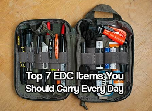 Top 7 EDC Items You Should Carry Every Day — Obviously, you can't carry your bug out bag with you at all times. You might have it nearby, such as in your office, by your front door, or in your car - but you can't have it physically on you at all times.