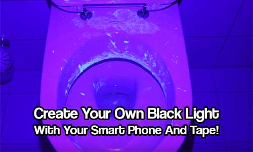 Create Your Own Black Light With Your Smart Phone And Tape