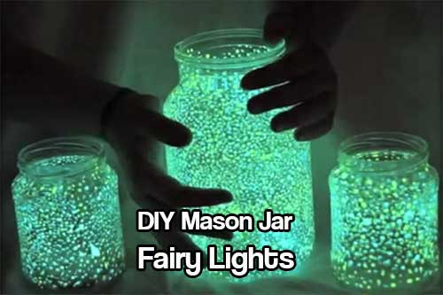DIY Mason Jar Fairy Lights - These lights are not just for kids, they are great for the garden and adults too. A lot of DIY projects I post have a lot of instructions and a lot of materials. This one doesn't, so easy. Thats why I love this so much!