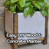 Easy DIY Wood and Concrete Planter - This tutorial is very easy to understand and has a lot of pictures to help you along the way too. The sharp lines and the contrast of the wood and concrete earn this a spot in my garden any day!