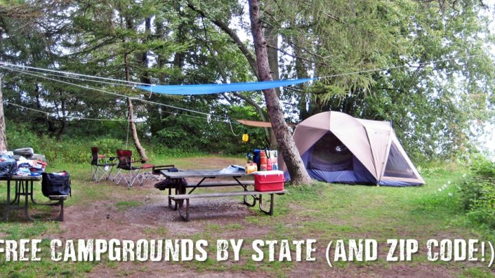 Free Campgrounds by State (and Zip Code!)