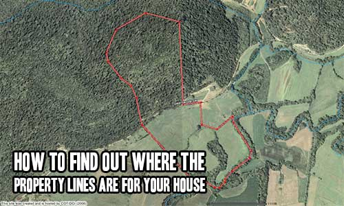 how to find out where the property lines are for your