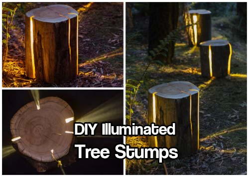 diy illuminated tree stumps shtf prepping central