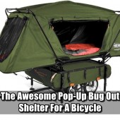 The Awesome Pop-Up Bug Out Shelter For A Bicycle - If an EMP hits all of our cars and RV's are useless. Having a bicycle for a backup bug out vehicle is always advisable. That being said, there is an option for shelter when bugging out on a bike too.