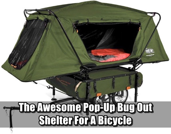 Concrete Bug Out Shelter : The awesome pop up bug out shelter for a bicycle