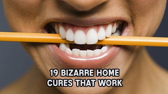 19 Bizarre Home Cures That Work - Next time you burn your tongue on piping hot pizza or come down with an unshakable case of hiccups, keep these tips from The Big Doctors Book of Home Remedies in mind.