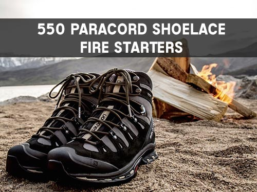 550 Paracord Shoelace Fire Starters