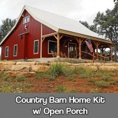 Country Barn Home Kit w/ Open Porch