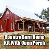 Country Barn Home Kit With Open Porch