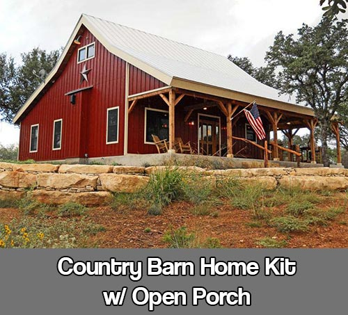 Country Barn Home Kit W Open Porch Shtf Prepping Central