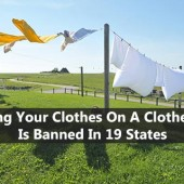 Drying Your Clothes On A Clothesline Is Banned In 19 States