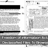 Freedom of information Act Declassified Files To Browse