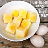 How To Freeze Fresh Eggs The Right Way - If you own chickens you will know that they can produce more eggs that you can eat on a daily basis. If you don't you will often get great deals on eggs at the store so take advantage of that and learn how to correctly freeze eggs!
