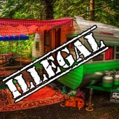 Illegal camping