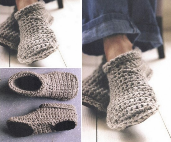 How To Make Toasty Warm Unisex Crocheted Slipper Boots