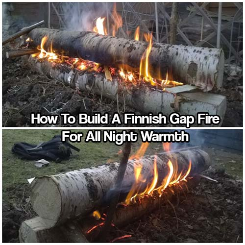 How To Build A Finnish Gap Fire For All Night Warmth - These fires are great when you're sleeping outdoors in a lean-to shelter or under the tree canopy in very cold or arctic conditions. They burn all night, keeping you warm and are awesome to watch!
