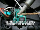 How To Make A Dollar Solar Garden Light Brighter And Use Less Power - I love the little dollar store solar lights and have always wondered how to make them brighter as they look and work reasonably well. Genius!