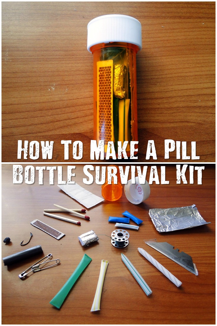How to make a pill bottle survival kit shtf prepping for How to draw a pill