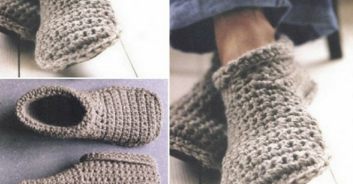 How To Make Toasty Warm Unisex Crochet Slipper Boots — These slipper booties can be worn for that chilly winter weather, they'll keep your feet warm and cozy all winter long. These can be made for your man too. In fact, they can be made for the kiddos also.