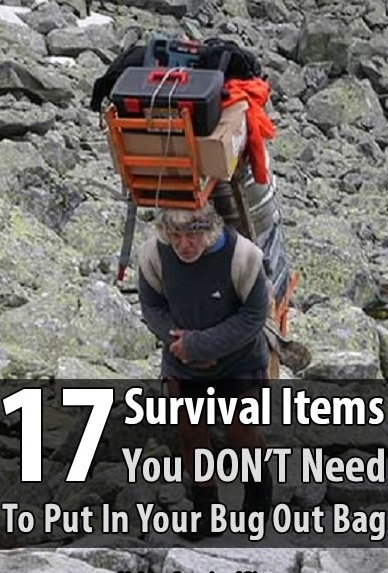 """17 Survival Items You DON'T Need In Your Bug Out Bag - If you've spent even a little time learning about preparedness and survival, you've no doubt come across the """"ultimate"""" list of bug out bag supplies. If you read too many of these lists, you'll be tempted to get more bug out bag items than you actually need."""