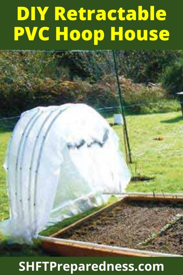 I absolutely love this project. I have posted lots of different PVC green houses and a few PVC raised garden houses too, but none that can retract to expose the whole bed!