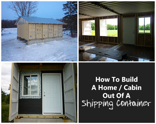 How to build a home cabin out of a shipping container for How to make a shipping container home