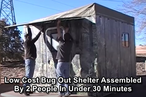 Low Cost Bug Out Shelter That Can Be Assembled By 2 People