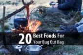 20 Best Foods For Your Bug Out Bag - I pack my bug out bag with foods that are higher in fat and protein and that won't melt after a hot afternoon in the trunk. My favorites are beef jerky, trail mix, and tuna pouches, but there are several others.