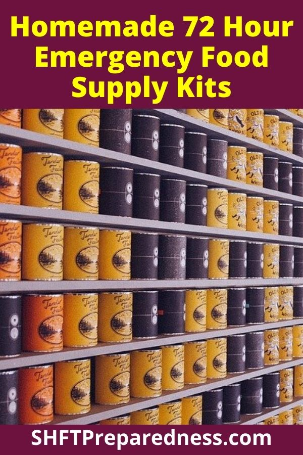 Personally, I think we all should have a few 72-hour emergency food supply kits as part of our preps. They are easy to make, easy to hide and store, and easy to grab if you have to get out of your house in an emergency.