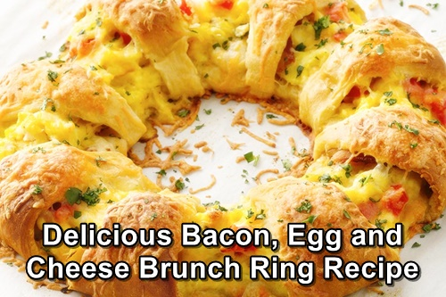 Delicious Bacon, Egg and Cheese Brunch Ring Recipe