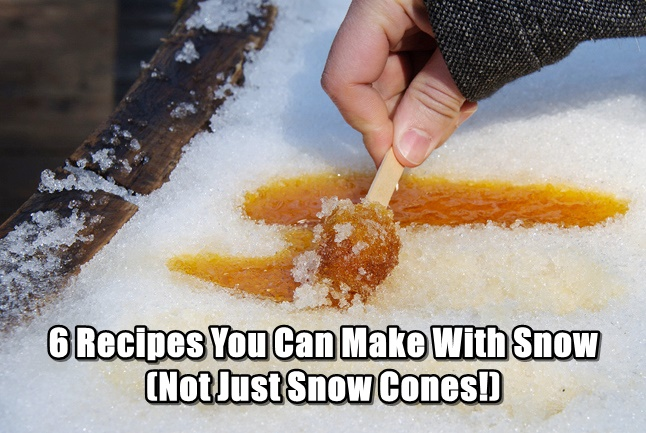 6 Recipes You Can Make With Snow (Not Just Snow Cones!)