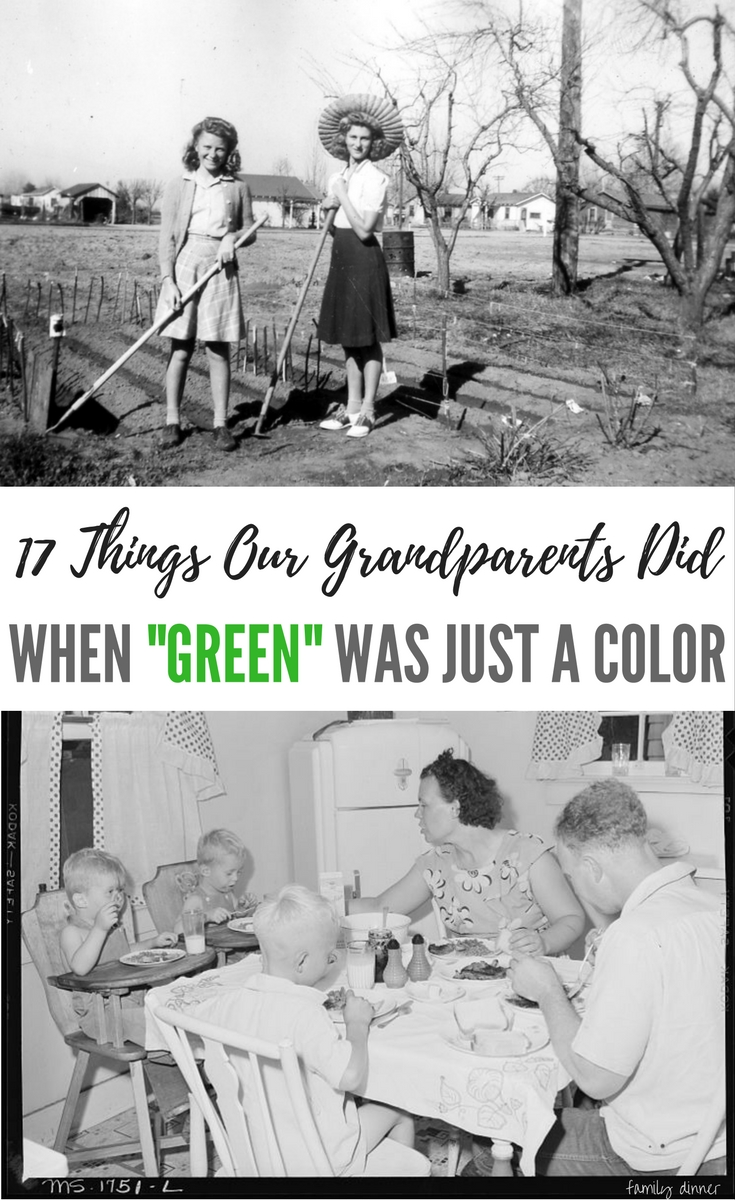 """17 Things That I Would Tell My Future 17 Year Old Daughter: 17 Things Our Grandparents Did When """"Green"""" Was Just A"""