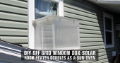 DIY Off Grid Window Box Solar Room Heater Doubles As a Sun Oven - This is an amazing solar room heater which doesn't use cans and even doubles up as a solar oven.