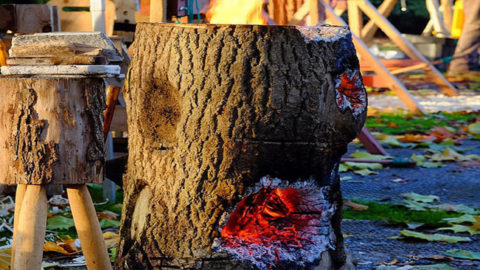 Make a One Log Fire at your Campsite