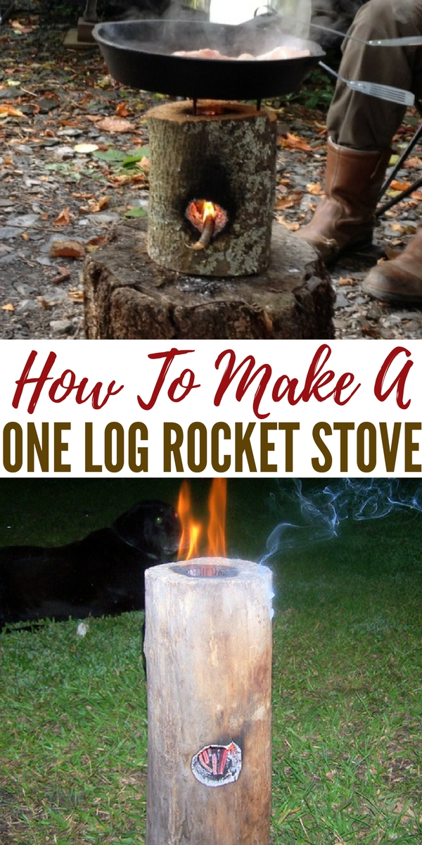 How To Make A One Log Rocket Stove