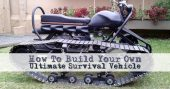 "How To Build Your Own Ultimate Survival Vehicle - Well, I thought I had seen everything in regards to DIY off road vehicles. I was mistaken. This puppy I am calling the ""bike tank"" is a tracked vehicle that is powerful and light enough to get you to your bug out location. Image Credit: Aceman307 via YouTube"