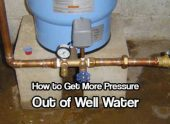 How to Get More Pressure Out Of Well Water — As soon as you move to the country and start homesteading, you may notice that the water pressure is a lot less than you have been used to. When you are getting your water from a well the pressure isn't going to be like from the city water supply.